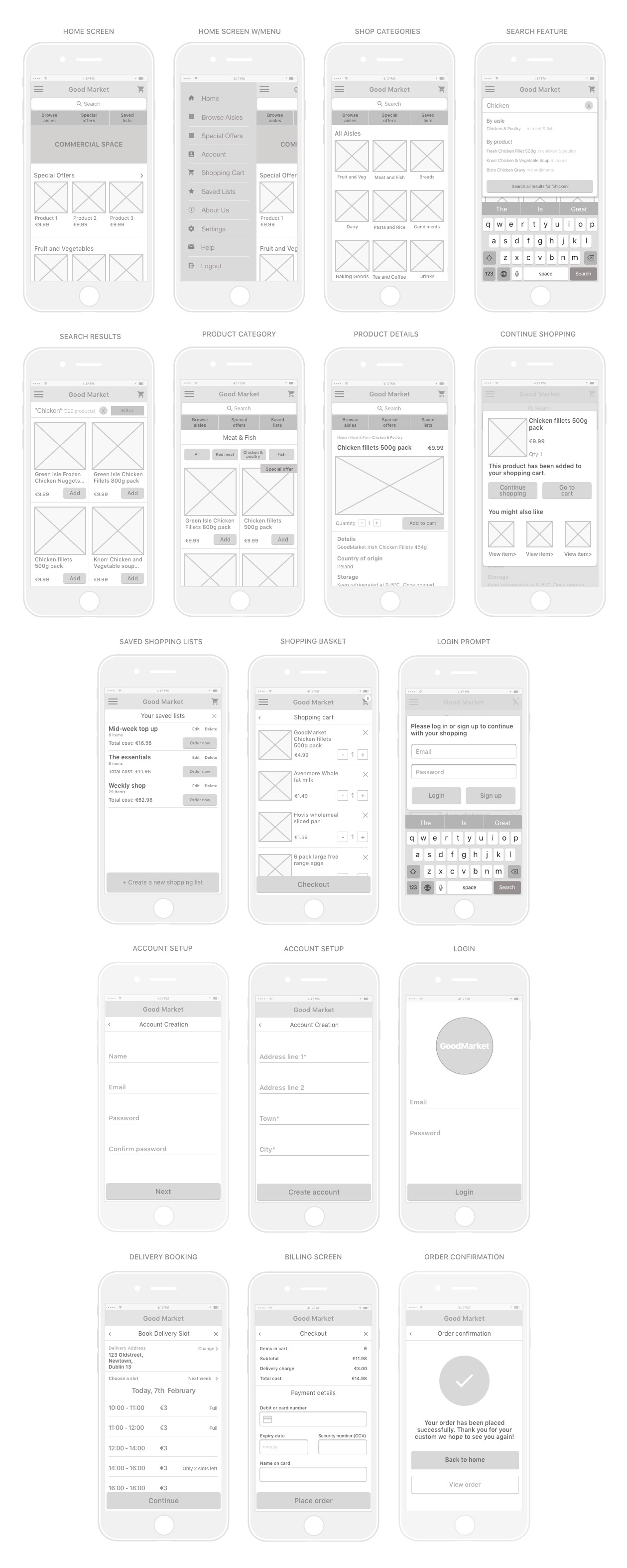 GoodMarket Wireframes